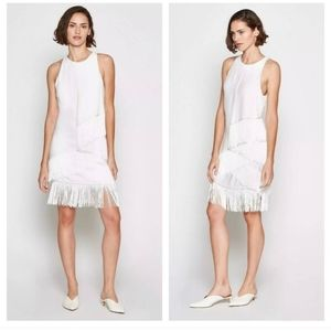 NWT Joie Porcelain Amiyah Fringe Flapper Dress